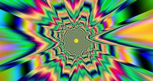 Extrahieren Sie Fractalhintergrund in den hellen klaren Farben langsam bewegen und austauschen lizenzfreie abbildung