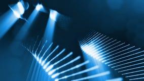 Extrahieren Sie geschlungenen Hintergrund von glühenden Partikeln wie Chrisrmas-Girlande Dunkle Zusammensetzung mit dem Oszillier stock abbildung