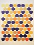 Extrahieren Sie Hexagonhintergrund Lizenzfreie Stockfotografie