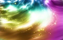 Extrahieren Sie Hintergrund mit bunten Leuchten Lizenzfreie Stockfotos