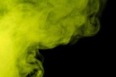 Extrahieren Sie Huka des farbigen Rauches auf einem schwarzen Hintergrund Lizenzfreies Stockbild