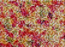 Extrahieren Sie karierten hellen Hintergrund des gezogenen Aquarells mit Kratzen und scratche in den roten Farben Horizontale kün Lizenzfreie Stockbilder