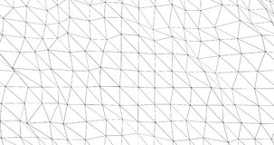 Extrahieren Sie langsam bewegendes Muster von dünnen schwarzen Linien stock video footage