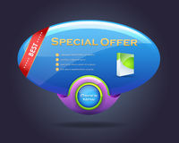 Extrahieren Sie Sprache-Blasen-Art-Geschäfts-Fahne Lizenzfreies Stockfoto