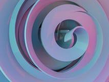 Extrahieren Sie swirly rosa Form auf schwarzem Hintergrund 3d lizenzfreie abbildung