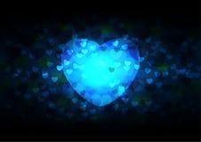 Extrahieren Sie viele Herzen auf schwarzer Hintergrundvektorillustration für Valentinsgrüße Stockfoto