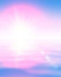 Extrahieren Sie Wassersonnenaufganghintergrund Stockfotos