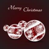 Extrahieren Sie Weihnachtshintergrund lizenzfreie abbildung