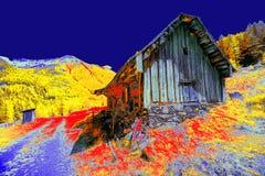Extrahierte Hütte Lizenzfreies Stockbild