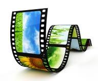 Extrait de film avec des images Photographie stock