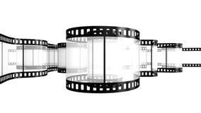 Extrait de film d'isolement sur le blanc Photographie stock