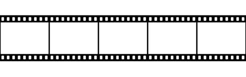 Extrait de film d'isolement sur le blanc Photographie stock libre de droits