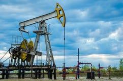 Extraktion des Schmieröls in Westsibirien, Russland Stockfotografie