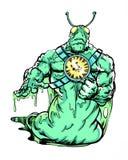 Extranjero de la barra del carácter del cómic ilustración del vector