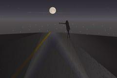 Extranjero de la noche Imagen de archivo libre de regalías