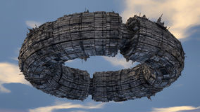 Extranjero del UFO de la nave espacial Imagen de archivo libre de regalías