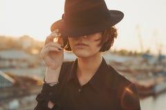 Extranjero en el sombrero Fotos de archivo libres de regalías