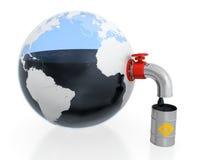 Extração do petróleo Foto de Stock