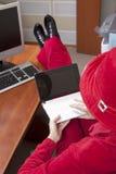 Extraordinaire businesswoman in red Stock Photos