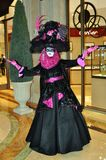 Extraordinary carnival costume at Venetian hotel Royalty Free Stock Photos