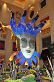 Extraordinary carnival installation at Venetian hotel. Las Vegas (Nevada, USA), August 2013 - Magnificent carnival installation with a huge mask from the Italian Royalty Free Stock Images