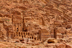 Extraordinary Royal Tombs in Petra Stock Photography