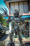 Extraordinary souvenirs from Koh Samui. Metal man Royalty Free Stock Image