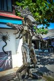 Extraordinary souvenirs from Koh Samui. Metal man Royalty Free Stock Images