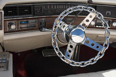 Extraordinary steering wheel retro car. Extraordinary steering wheel retro car Stock Images