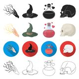 Extrasensory, nature, phenomenon and other web icon in different style.remains, excavations, antiquity, icons in set Stock Photo