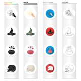 Extrasensory, nature, phenomenon and other web icon in different style.remains, excavations, antiquity, icons in set. Extrasensory, nature, phenomenon and other Royalty Free Stock Photos
