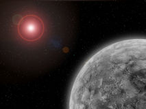Extrasolar Planet. Near Its Planetary System's Central Star Royalty Free Stock Image