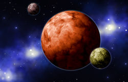 Extrasolar planets Stock Image