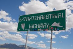 Extraterrestaial Highway Royalty Free Stock Image