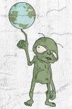 Extraterrestre de mundo de Poseer illustration libre de droits