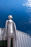 Extraterrestrial. A huge metallic creature from outer space standing along the Extraterrestrial Highway near Area 51 in desolate Nevada stock photography