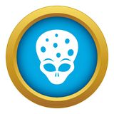 Extraterrestrial alien head icon blue vector isolated. On white background for any design vector illustration
