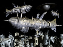 Extraterrestrial Civilization. Computer generated 3D illustration with extraterrestrial life on another planet Stock Photography