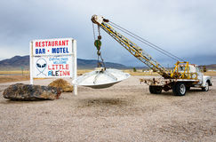 Extraterrestrial Highway Stock Photography
