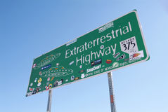 Extraterrestrial highway. Road sign in Nevada, USA Royalty Free Stock Images