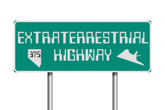 Extraterrestrial Highway road sign. Vector illustration of the Extraterrestrial Highway road sign on the State Route 375 Nevada stock illustration