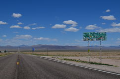 The Extraterrestrial Highway Royalty Free Stock Photos