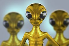 Extraterrestrial humanoid creature Royalty Free Stock Photo
