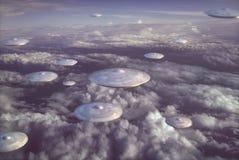 Extraterrestrial UFO Spacecraft royalty free illustration
