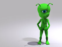 Extraterrestrial white background Stock Images