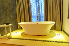 Extravagant bathtub in a hotel Stock Photography