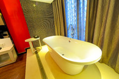 Extravagant bathtub in a hotel Royalty Free Stock Images