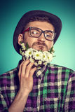 Extravagant beard Stock Image