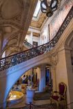 Extravagant houses in america Breakers Mansion. Interior and exterior of Breakers mansion Rhode Island USA Newport royalty free stock photos