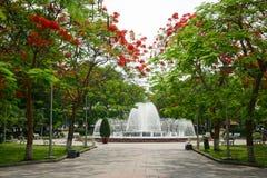 Extravagant, ist dieses eine Weise führen zu den Brunnen von Hai Phong-Gleichheit Stockfoto
